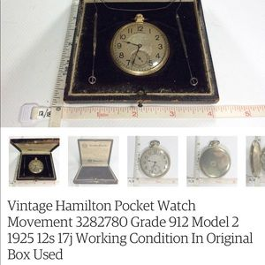 Hamilton 1925 pocket watch. In working order